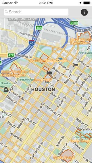 Houston Tourist Map