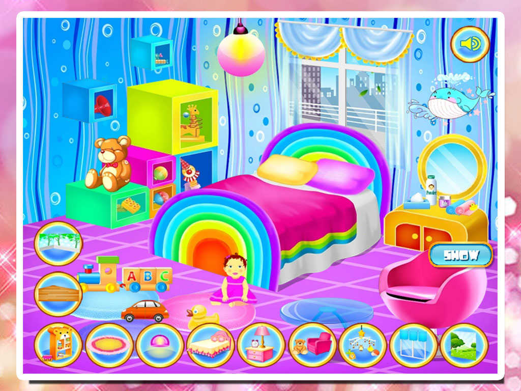 App shopper baby bedroom decoration games for Baby decoration games