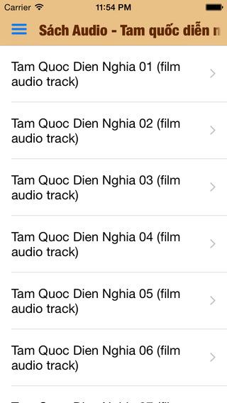 Sách Audio - Tam quốc diễn nghĩa Film audio track
