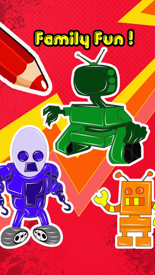 Color robot Pro - child coloring and paint book