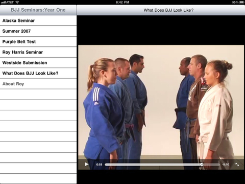 Brazilian Jiu Jitsu Seminars: Year One iPad Screenshot 1