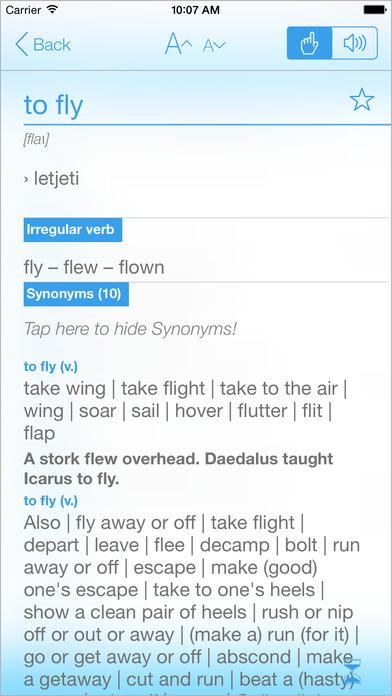 Croatian English Dictionary & Translator iPhone Screenshot 2