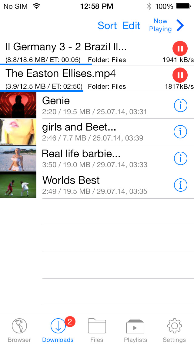 Video Downloader Super Lite app for ios Review