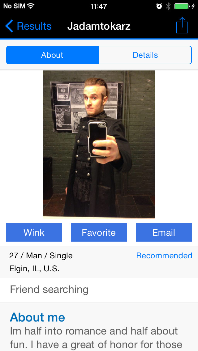 Punk dating app