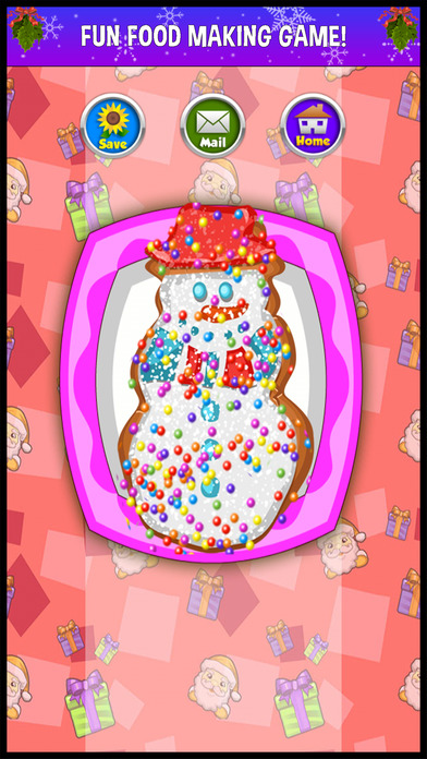 Screenshots of A Christmas Food Fever Cooking Maker - make xmas cake & cookie dessert in a kid making game! for iPhone