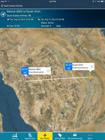 Riyadh King Kahlid Airport + Flight Tracker Premium HD Saudi Arabian RUH airlines