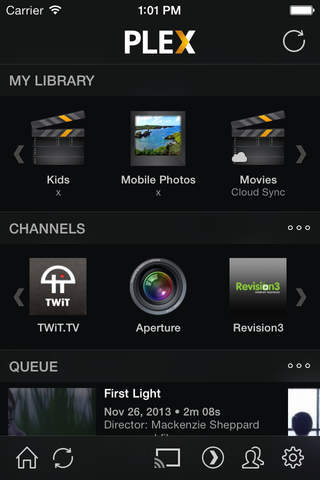 Plex app screenshot