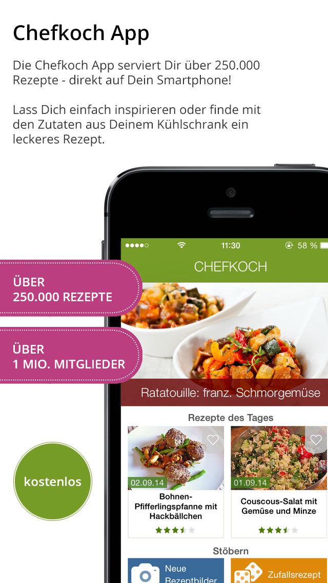 Kochen Und Backen App chefkoch rezepte backen kochen einkaufsliste und kochbuch app store softwares