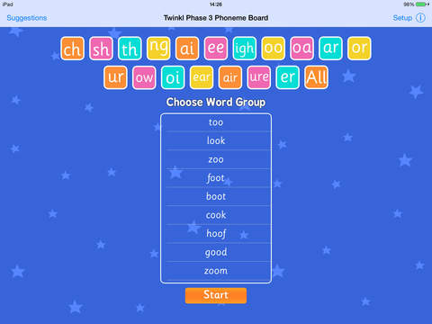 Twinkl Phase 3 Phoneme Board British Phonics - Word Spelling Game