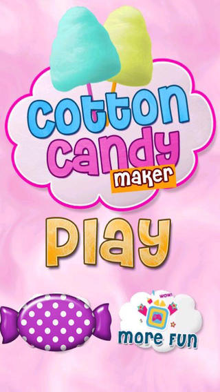 Cotton Candy - Fair cotton candy cooking making dessert make games for kids