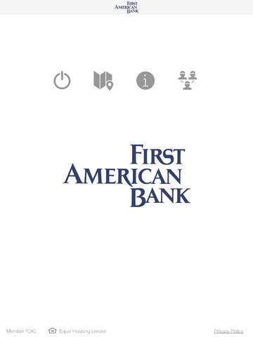 First American Bank Business Mobile for iPad