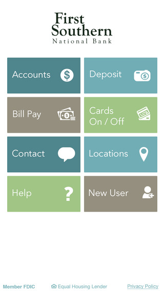 First Southern National Bank Mobile App