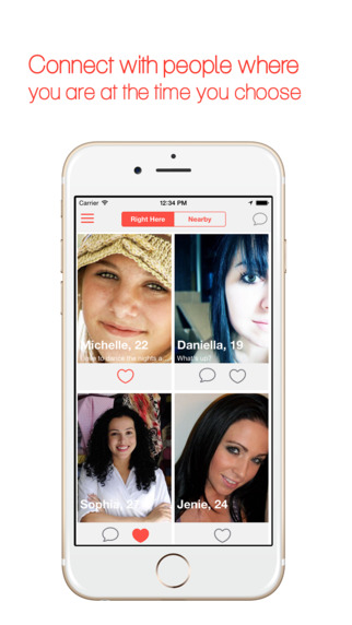 Tryster Dating - Flirt Chat and Meet with people few feet away from you.