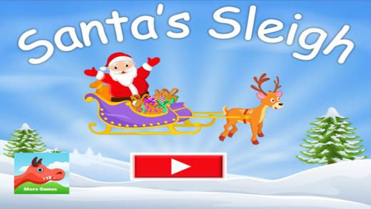 Santa's Gift Sleigh - Christmas Holiday Spirit Fun
