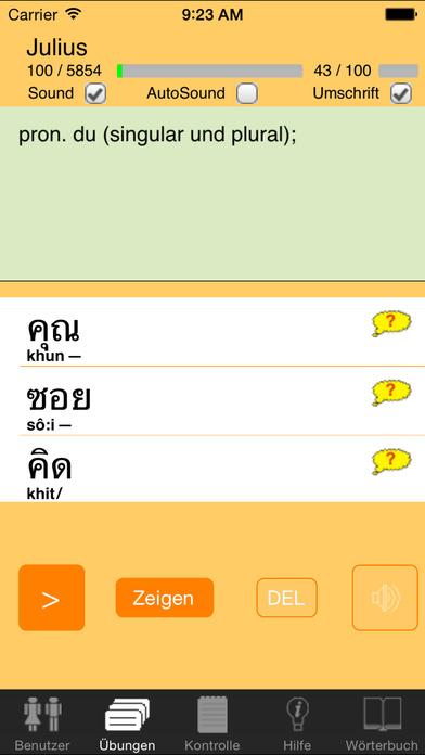 ClickThai Vokabel-Trainer DE iPhone Screenshot 2