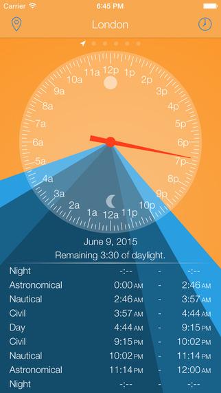 DayLight - sunrise and sunset clock