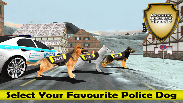 Mountain Police Dog Chase Criminal 3D : Find The Bomb