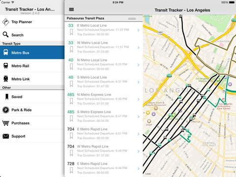 Transit Tracker - Los Angeles (METRO) screenshot