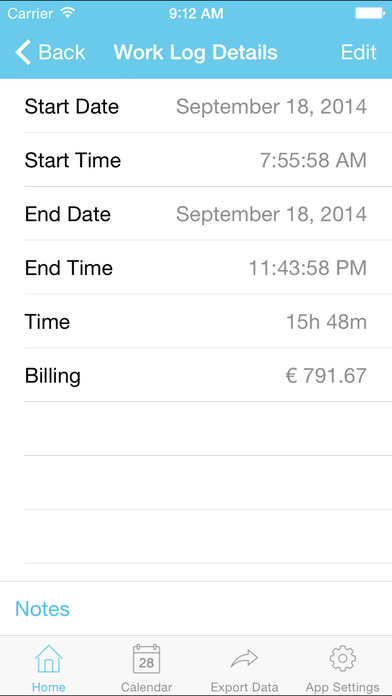 myWorkTime Free - Task, Time and Billing Tracker iPhone Screenshot 4