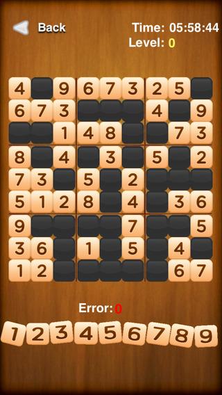 Arabic numerals cross-Sudoku Number Puzzle
