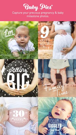 Baby Pics+ pregnancy baby milestone photos