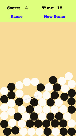 Gravity Dots - Connect the dots which are chequered with black and white