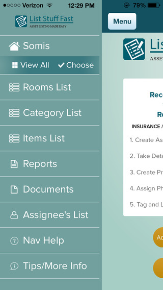 ListStuffFast – Home Inventory; Twenty Minutes to Peace of Mind