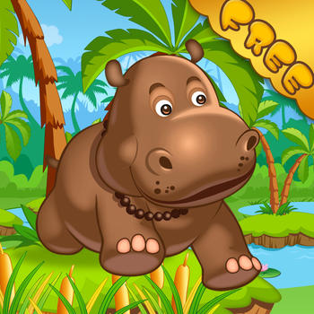 Happy Hippo Jumping & Running - Fun Endless Running Game! LOGO-APP點子