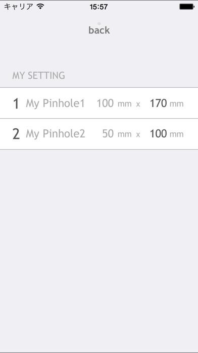 Pinhole Calc iPhone Screenshot 2