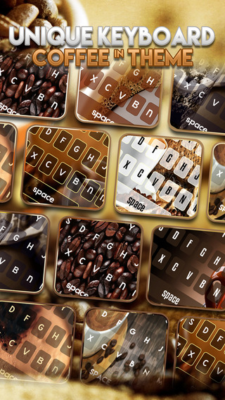 KeyCCM – Coffee Color : Custom Wallpaper Keyboard Themes in Love a Cup Cafe Break Collection
