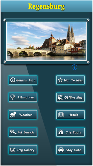 Regensburg Offline Map City Guide
