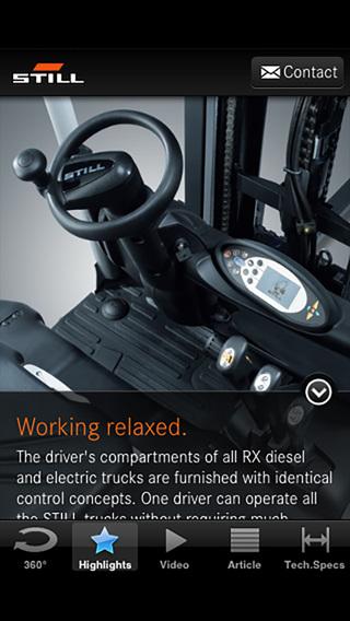 STILL RX 50 electric forklift truck iPhone Screenshot 4