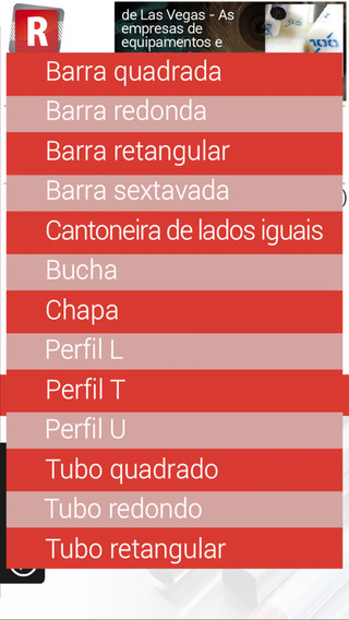 REFLO - PESOS DE MATERIAIS