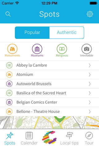 Charly trip - Brussels - Local travel guide screenshot 2