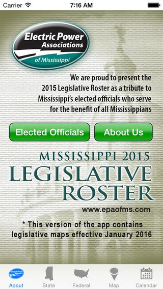 Mississippi 2015 Legislative Roster