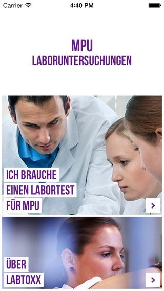 MPU Laboruntersuchungen