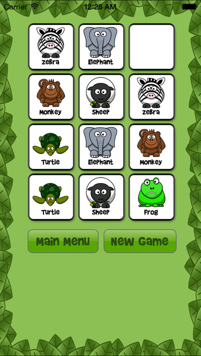Animal Memory Match Free - Fun for kids!!! iPhone Screenshot 3