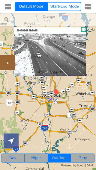 Ohio Offline Map with Real Time Traffic Cameras