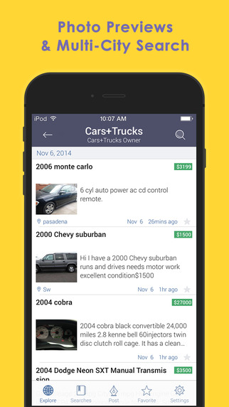 cMobile for Craigslist - Free Daily Mobile Classifieds App for iPhone to Search Local Jobs Find Cars