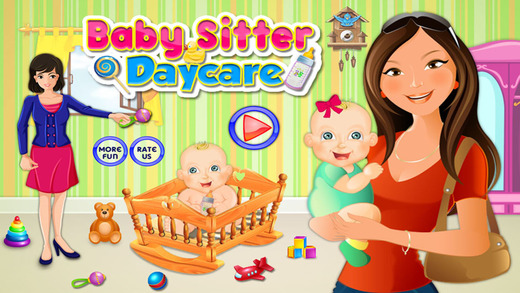 Babysitter Baby Day Care: Feed Bath and Dress Up Newborn Baby