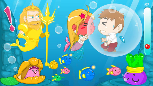 Mermaid And Her Prince—Romantic Kiss Love Adventure