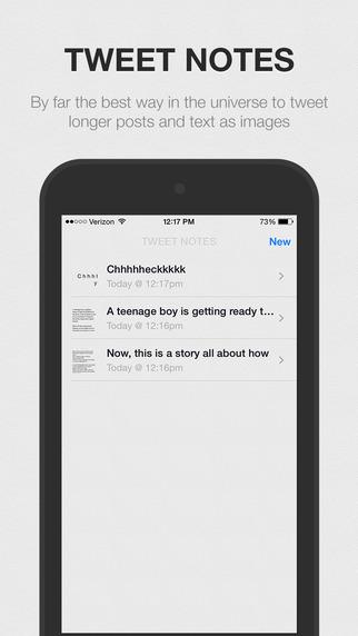 Tweet Notes – Tweet longer text in a picture