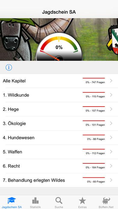 Jagdschein Sachsen-Anhalt iPhone Screenshot 1