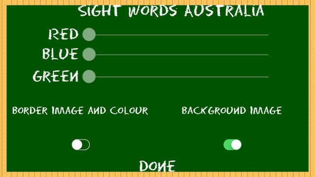 Sight Words Australia Home Version QLD for iPhone