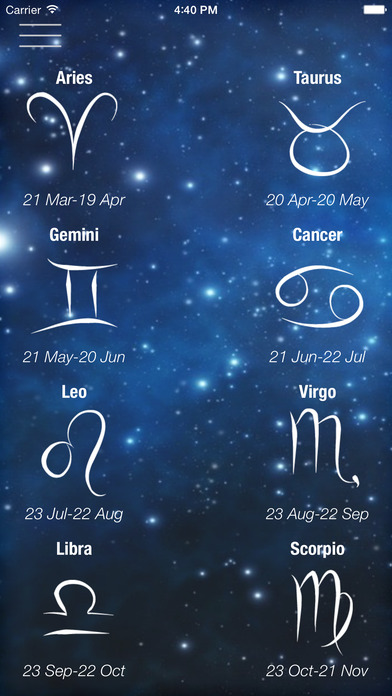 Horoscope iPhone Screenshot 1
