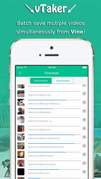 vTaker - Video downloader for Vine save for Vine