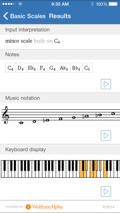 Wolfram Music Theory Course Assistant iPhone Screenshot 2