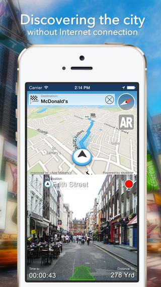 Copenhagen Offline Map + City Guide Navigator Attractions and Transports