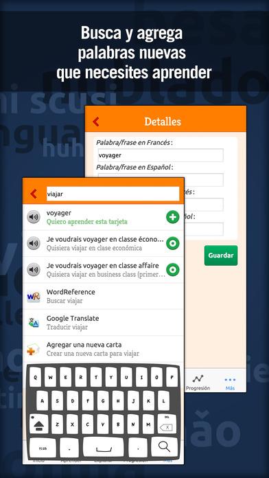 MosaLingua Francés: Aprender Francés rápidamente (Español ► Francés) iPhone Screenshot 5