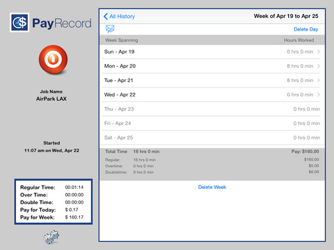 PayRecord iPad Screenshot 1